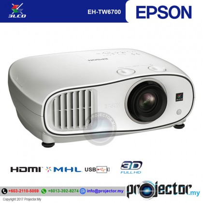 EPSON EH-TW6700 FULL HD 3D HOME THEATER PROJECTOR