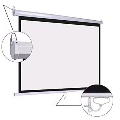 "Dopah Manual Wall Screen 84"" X 84"" (7'X7') Matt White"